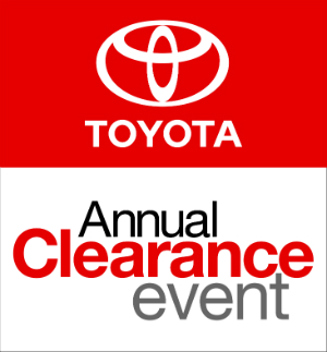 Toyota Annual Clearance Event